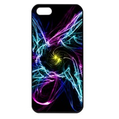 Abstract Art Color Design Lines Apple Iphone 5 Seamless Case (black)