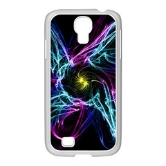 Abstract Art Color Design Lines Samsung Galaxy S4 I9500/ I9505 Case (white) by Nexatart