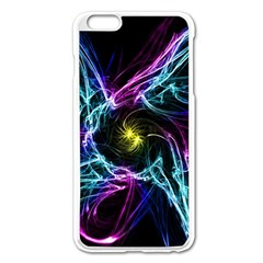 Abstract Art Color Design Lines Apple Iphone 6 Plus/6s Plus Enamel White Case by Nexatart