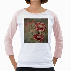 Flowers Plant Red Drawing Art Girly Raglans