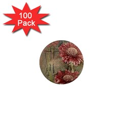 Flowers Plant Red Drawing Art 1  Mini Magnets (100 Pack)  by Nexatart