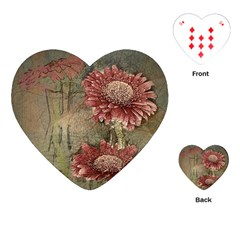 Flowers Plant Red Drawing Art Playing Cards (heart)  by Nexatart