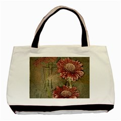 Flowers Plant Red Drawing Art Basic Tote Bag by Nexatart