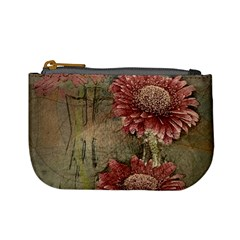 Flowers Plant Red Drawing Art Mini Coin Purses