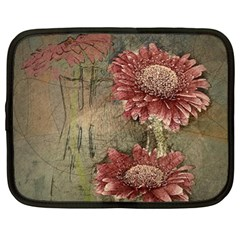 Flowers Plant Red Drawing Art Netbook Case (xl)
