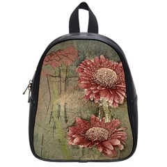 Flowers Plant Red Drawing Art School Bags (small)