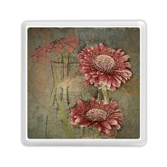 Flowers Plant Red Drawing Art Memory Card Reader (square)  by Nexatart