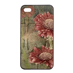 Flowers Plant Red Drawing Art Apple Iphone 4/4s Seamless Case (black) by Nexatart