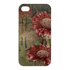 Flowers Plant Red Drawing Art Apple Iphone 4/4s Hardshell Case by Nexatart