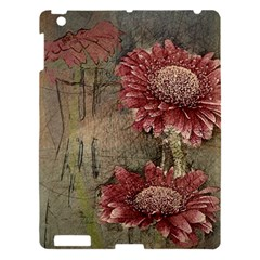 Flowers Plant Red Drawing Art Apple Ipad 3/4 Hardshell Case