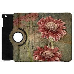 Flowers Plant Red Drawing Art Apple Ipad Mini Flip 360 Case by Nexatart