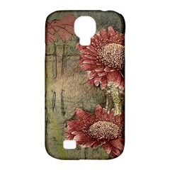 Flowers Plant Red Drawing Art Samsung Galaxy S4 Classic Hardshell Case (pc+silicone) by Nexatart