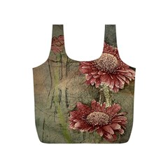 Flowers Plant Red Drawing Art Full Print Recycle Bags (s)