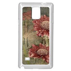 Flowers Plant Red Drawing Art Samsung Galaxy Note 4 Case (white) by Nexatart
