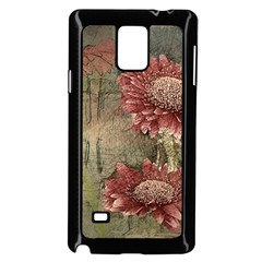 Flowers Plant Red Drawing Art Samsung Galaxy Note 4 Case (black)