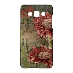 Flowers Plant Red Drawing Art Samsung Galaxy A5 Hardshell Case