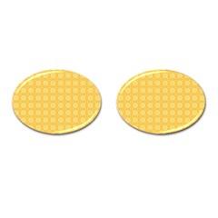Pattern Background Texture Cufflinks (oval)