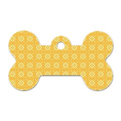 Pattern Background Texture Dog Tag Bone (one Side)