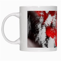 Red Black Wolf Stamp Background White Mugs by Nexatart