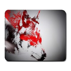 Red Black Wolf Stamp Background Large Mousepads