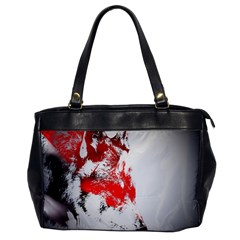 Red Black Wolf Stamp Background Office Handbags by Nexatart