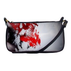 Red Black Wolf Stamp Background Shoulder Clutch Bags by Nexatart