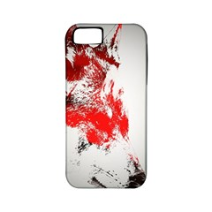 Red Black Wolf Stamp Background Apple Iphone 5 Classic Hardshell Case (pc+silicone)