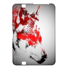 Red Black Wolf Stamp Background Kindle Fire Hd 8 9  by Nexatart