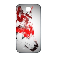 Red Black Wolf Stamp Background Samsung Galaxy S4 I9500/i9505  Hardshell Back Case