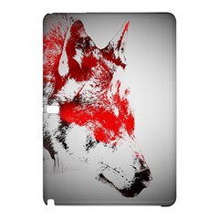 Red Black Wolf Stamp Background Samsung Galaxy Tab Pro 10 1 Hardshell Case
