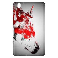 Red Black Wolf Stamp Background Samsung Galaxy Tab Pro 8 4 Hardshell Case
