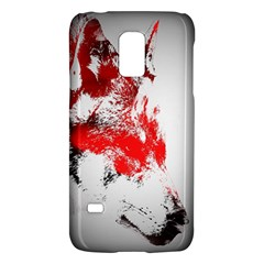 Red Black Wolf Stamp Background Galaxy S5 Mini