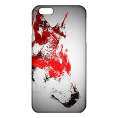 Red Black Wolf Stamp Background Iphone 6 Plus/6s Plus Tpu Case by Nexatart