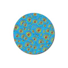 Digital Art Circle About Colorful Magnet 3  (round)
