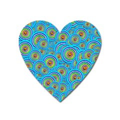 Digital Art Circle About Colorful Heart Magnet by Nexatart