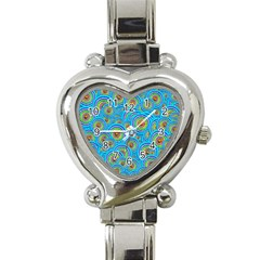 Digital Art Circle About Colorful Heart Italian Charm Watch