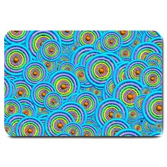 Digital Art Circle About Colorful Large Doormat