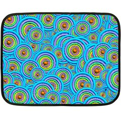 Digital Art Circle About Colorful Double Sided Fleece Blanket (mini)