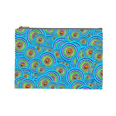Digital Art Circle About Colorful Cosmetic Bag (large)  by Nexatart