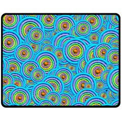 Digital Art Circle About Colorful Fleece Blanket (medium)