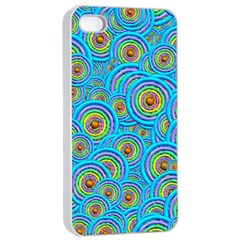 Digital Art Circle About Colorful Apple Iphone 4/4s Seamless Case (white) by Nexatart