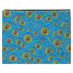 Digital Art Circle About Colorful Cosmetic Bag (xxxl)  by Nexatart