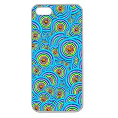 Digital Art Circle About Colorful Apple Seamless Iphone 5 Case (clear) by Nexatart