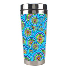 Digital Art Circle About Colorful Stainless Steel Travel Tumblers by Nexatart