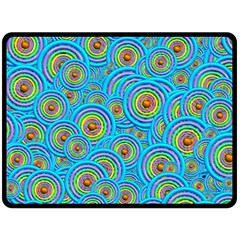 Digital Art Circle About Colorful Double Sided Fleece Blanket (large)  by Nexatart