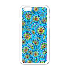Digital Art Circle About Colorful Apple Iphone 6/6s White Enamel Case by Nexatart