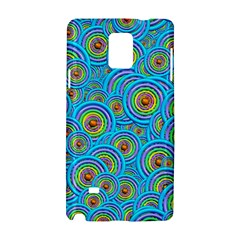 Digital Art Circle About Colorful Samsung Galaxy Note 4 Hardshell Case by Nexatart