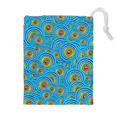 Digital Art Circle About Colorful Drawstring Pouches (extra Large)