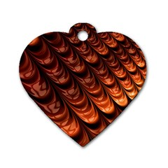Fractal Mathematics Frax Dog Tag Heart (one Side)