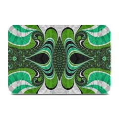 Fractal Art Green Pattern Design Plate Mats by Nexatart